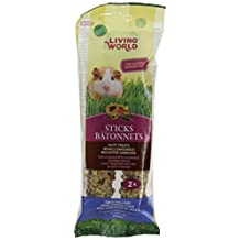 Living World 60671 Guinea Pig Fruit Treat Sticks, 4-Ounce
