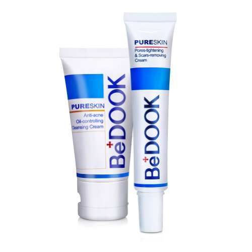 Bedook Anti-acne Oil-controlling Cleansing Cream & Pores-tightening and Scars-removing Cream (Purcellin Oil)