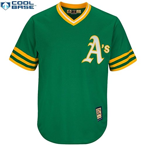 Oakland Athletics A's MLB Men's Cool Base Cooperstown Pullover Jersey (XXlarge)