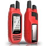 TUSITA Case for Garmin Rino 750 755T - Silicone Protective Cover - Handheld GPS Accessories (Red)