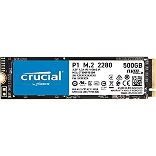Crucial P1 500GB 3D NAND NVMe PCIe Internal SSD, up to 2000MB/s - CT500P1SSD8
