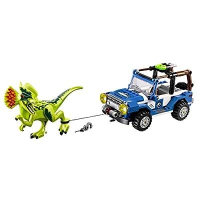 Lego Jurassic World Dilophosaurus Ambush 75916 Building Kit: Toys & Games