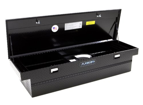 Lund 79100T 70-Inch Aluminum Full Lid Cross Bed Truck Tool Box, Diamond Plated, Black