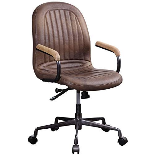(ACME Furniture 92559 Acis Executive Office Chair Vintage Chocolate Top Grain Leather)