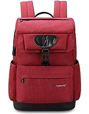 Norsens Ultraleicht USB Lässiger Uni Tasche Herren Damen 15.6 Zoll Rot
