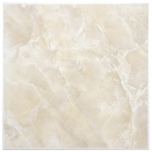 SomerTile FTC12GBE Sigma Ceramic Floor and Wall Tile, 11.75'' x 11.75'', Beige/Cream by SOMERTILE
