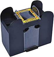 BELMAKS 6 Deck Automatic Card Shuffler - Great for Home & Tournament Use for Classic Poker & Trading C