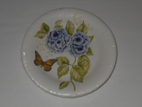 Butterfly Meadow Monarch Lenox by CR Gibson Coated Luncheon Dessert Plates 8 Count