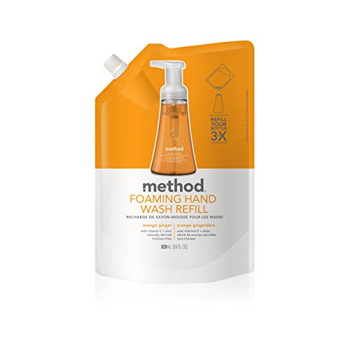 Method Foaming Hand Soap Refill, Orange Ginger, 28 Fl. Oz (Pack of 6) - Ginger Foaming Soap Refill