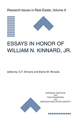 Essays in Honor of William N. Kinnard, Jr. (Research Issues in Real Estate)