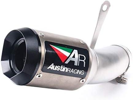 S1000RR 15 16に対応オートバイの修正パイプオートバイのエキゾーストパイプAR排気管 オートバイアクセサリー排気管 (Color : Gray)