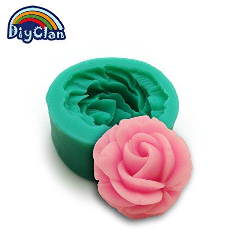 (Diyclan silicone molds for cake decorating fondant mold flower shape ice salt sculpture handmade soap mould kitchen F0443HM35)