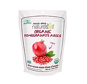 Natierra Nature's All Foods Organic Freeze Dried Pomegranate Arils, 1.3 Ounce