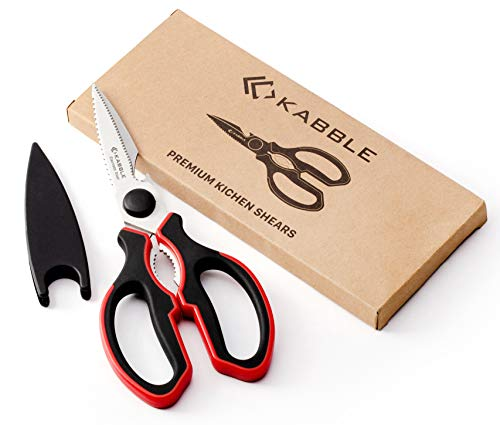 KABBLE Premium Heavy Duty Kitchen Shears | Multifunction Kitchen Scissors | Latest and Smart Designed | As Sharp As Any Knife - Heavy Duty Kitchen