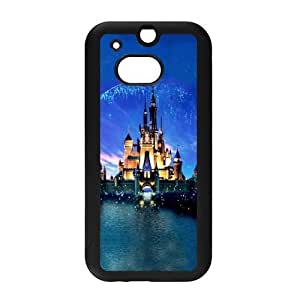 Cute Disney Castle Snap on Hard Plastic Back Case Cover for Personalized Case for HTC One M8 Case-Perfect as Christmas gift(2) by ruishername