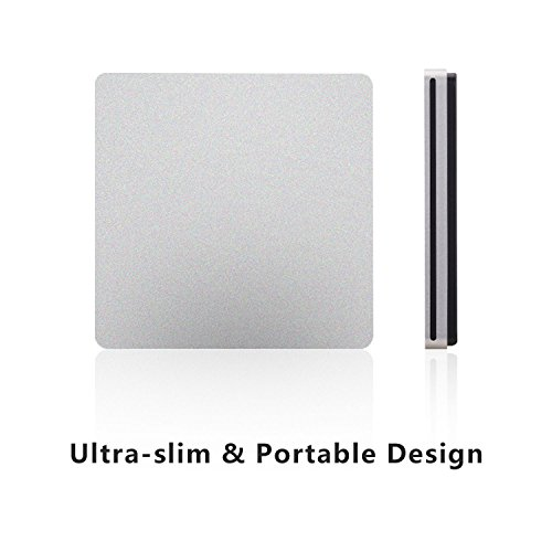 tengertang TYPE-C Super external drive,USB portable External DVD/CD Drive Burner/Reader/Rewriter for the latest Macbook/MacBook Pro/ASUS/DELL Latitude with USB-C Port (silver) by tengertang (Image #6)