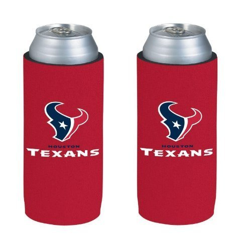 nfl-2013-football-ultra-slim-beer-can-holder-koozie-2-pack-pick-your-team-houston-texans