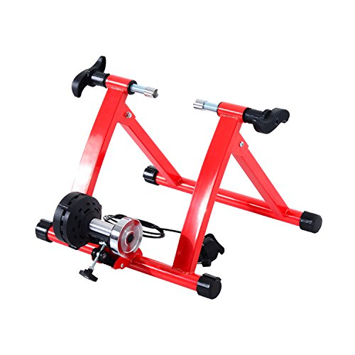 Soozier Adjustable Magnetic Resistance Indoor Exercise Bike Bicycle Trainer Stand - Red