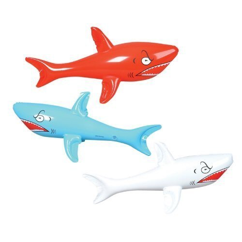 Inflatable SHARKS Birthday DECORATIONS Favors product image