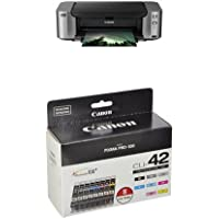 Canon PIXMA PRO-100 Color Professional Inkjet Photo Printer and Canon Ink CLI-42 8 PK Value Pack Ink
