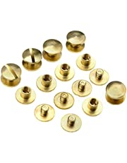 Platte klinknagels, 10 sets 4/6/8 mm x 4,5 mm, voor riemen, tassen enz., 4 mm