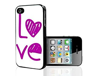 Pretty Pink Love Hard Snap on Case (iPhone 4/4s)