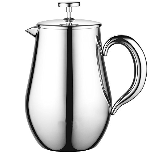 Kaffeebereiter Kaffeekanne 1L Edelstahl Thermo French Press Doppelwandig 8 Tassen