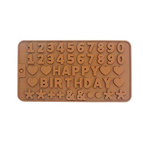 - MOMECreavity Number & English Word Cake Moulds Smiley Silicone Fondant Mold Cake Decorating Chocolate