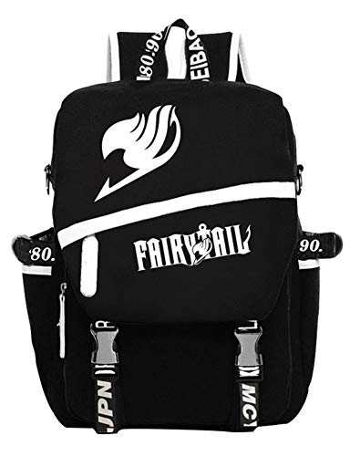 Gumstyle Fairy Tail Anime Cosplay Luminous Laptop Backpack Rucksack Schoolbag Book Bag Unisex Student Black