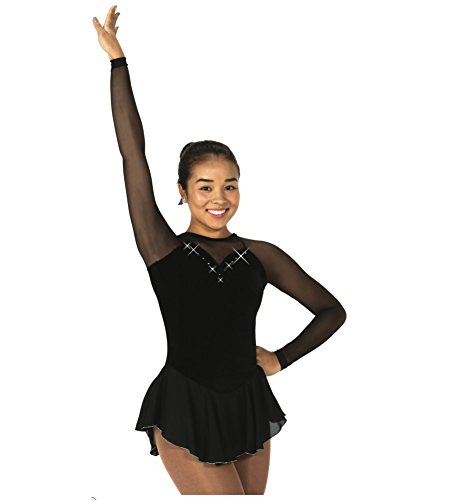 Jerry's Ice Skating Dress - 277 Diamante Dress (Black, Size AS)