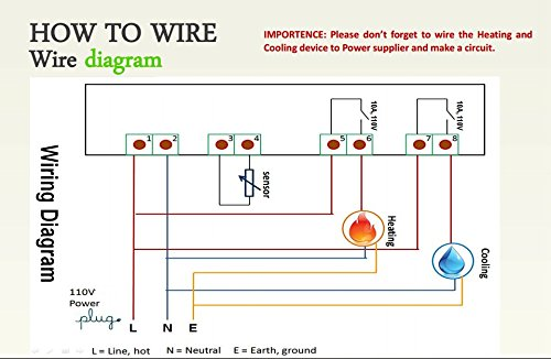412K0idP4iL lerway 110v all purpose temperature controller sensor 2 relay 4 Pin Relay Wiring Diagram at edmiracle.co