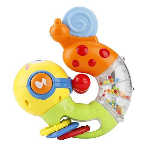 NuoPeng 3 in 1 Take Along Tunes Musical Toy, Rattle, Teether