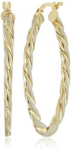 Sterling Two Tone Italian Polished Earrings