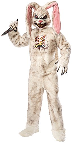 Forum Novelties Men's Rotten Rabbit Costume, White, Standard
