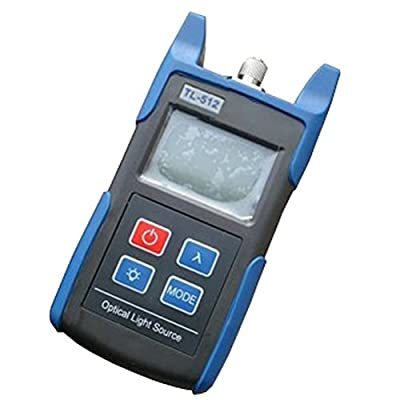 TOMO TL-512 Handheld Optical Power Meter, Laser Light Source Fiber Power Tester, 1310nm to 1550nm Output Wavelength - Batteries Included