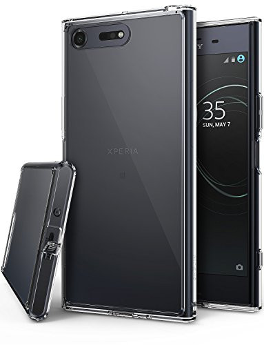 Ringke [Fusion] Compatible with Sony Xperia XZ Premium Case, Crystal Clear PC Back TPU Bumper [Drop Protection/Shock Absorption Technology] Raised Bezels Protective Cover - Clear