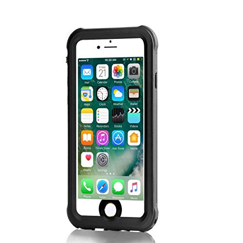 iPhone 6/iPhone 6s Waterproof Case, Meritcase IP68 4.7 inch iPhone 6/6s Full Body Shockproof Snowproof Dirtproof Sandproof Case for Swimming Diving Surfing Snorkeling (4.7 inch, Black)