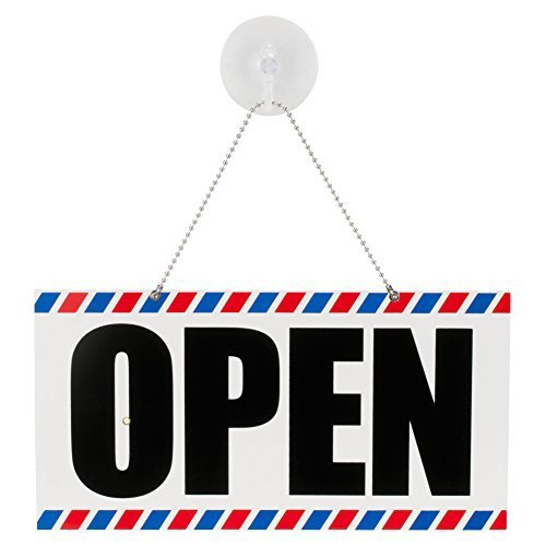 SCALPMASTER Open/ Closed Sign with Clock BK-SC-9018