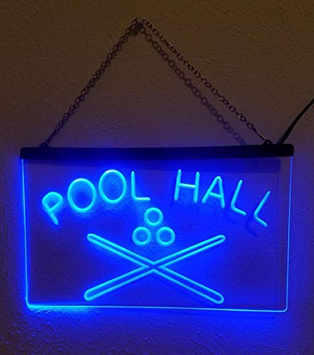 1st Door Imports Pool Hall LED Sign Billiards Snooker Bar Light