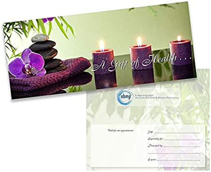 No Logo 25-Pack Tranquil Orchid Massage//Chiropractic Gift Certificate