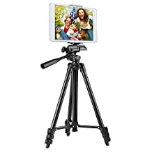 """Tripod w/ Tripod Phone&Tablet Adapter, Peyou® 50"""" Lightweight Aluminum Camera Tripod + [2 In 1] Tablet & Smartphone Holder Mount + Water-resistant Carring Bag for iPhone 7/7 Plus 6S Plus/6 Plus 6S/6 SE/5S/5/5C, Samsung Galaxy S8/S8 Plus S7/S7 Edge S6 Edge/S6 S5, Apple iPad Pro 9.7"""" iPad Air 1/2 iPad Mini 1/2/3/4, Sumsung Galaxy Tablet and More Phones & Tablets & Cameras"""