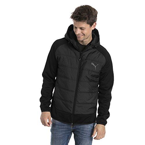 ed989e078 Puma Men's Hybrid Padded Jacket, Black, X-Large: Amazon.co.uk ...