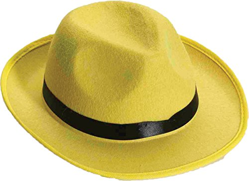 Forum Novelties Men's Deluxe Adult Novelty Fedora Hat, Yellow, One Size
