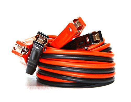 auge x 20 Ft 500A Heavy Duty Booster Jumper Battery Cables (4 AWG x 20 Feet) ()