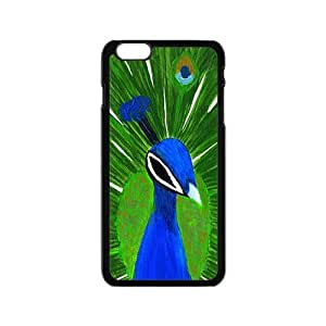 Colorful Peacock Tail Hight Quality Plastic Case for Iphone 6