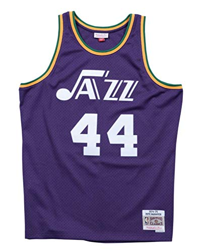 Mitchell & Ness Pete Maravich New Orleans Jazz NBA Swingman 74-75 HWC -