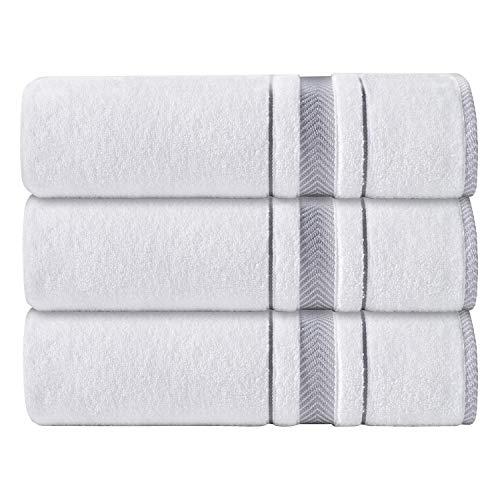 AROW9 Plush 3 Piece Luxury Bath Towels for Bathroom & Spa – Absorbent & Soft Gift Towel 100% Turkish Cotton – Premium…