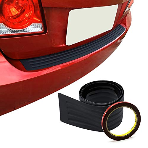 Meng Anna Car Rear Bumper Protector Universal Black Rubber Scratch-Resistant Trunk Door Entry Guards Accessory(105cm/41inch)