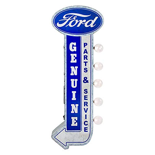American Art Decor Officially Licensed Genuine Ford Parts & Service LED Sign