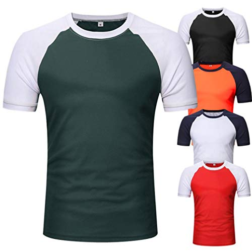 Maglie Camicetta Di Corte Elegante Manica Corta A T Verde vintage Top Homebaby Autunno Felpe Vestiti shirt Uomo Casual Particolari Tumblr 6xqTdvnw